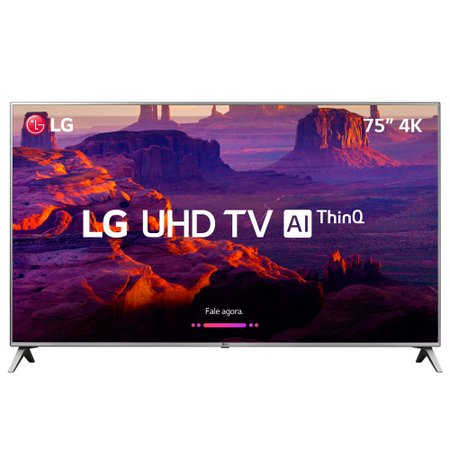 Smart TV Ultra HD LED 75'' LG, 4K, 4 HDMI, 2 USB, Wi-Fi - 75UK6520PSA