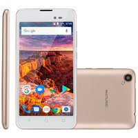 Smartphone Multilaser MS50L, 3G, 8GB, 8MP, Dual Core, Dourado - P9052