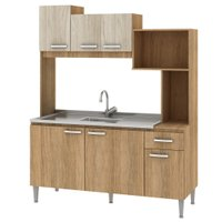 Cozinha Compacta sem Tampo Fellicci Londres, 6 Portas, 1 Gaveta - CC91