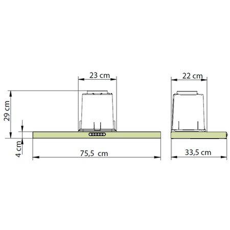 Depurador de Ar Nardelli Compact, 75 cm, 3 Velocidades