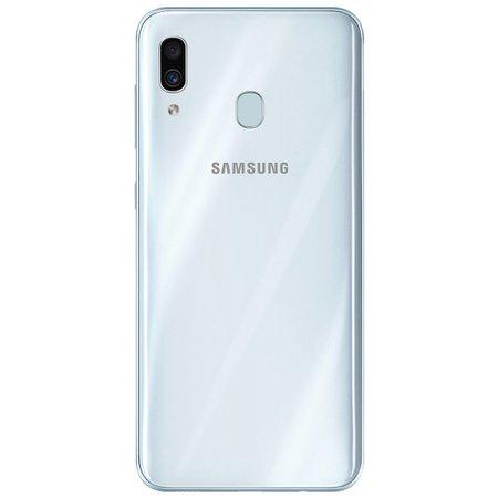 Smartphone Samsung Galaxy A30, 64 GB, 16MP + 5MP, 4G, Dual Chip, Branco - A305G