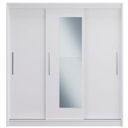 Guarda-Roupa / Roupeiro Decibal, 3 Portas de Correr, 3 Gavetas, Espelho - RP4330