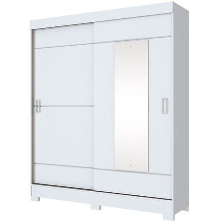 Guarda-Roupa / Roupeiro Henn, 2 Portas de Correr, 2 Gavetas, Espelho - B66