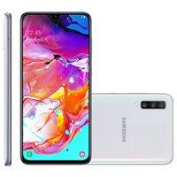 Smartphone Samsung Galaxy A70, 128GB, Câmera Tripla, Dual Chip, Branco - A705M