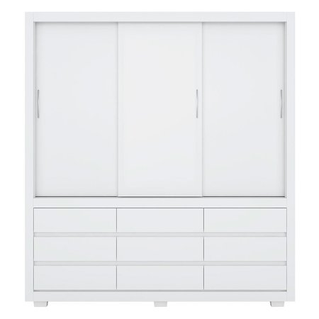 Guarda-Roupa / Roupeiro Demóbile Detroit, 3 Portas, 9 Gavetas - 39290