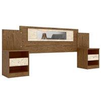 Cabeceira de Casal Moval Sevilha com Criados-Mudos, para Colchão de 138 e 158 cm