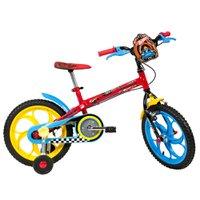 Bicicleta Infantil Caloi Aro 16 Hot Wheels com Rodinhas