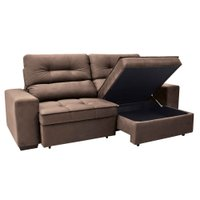 Sofa 4 Lugares Retratil e Reclinavel com Bau Linoforte Artemis