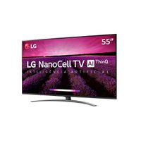 Smart TV Ultra HD LED 55 LG, 4K, Nano, 4 HDMI, 3 USB com WI-Fi - 55SM8100PSA