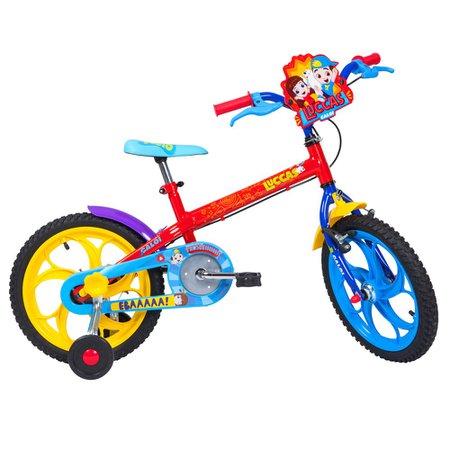 Bicicleta Infantil Caloi Aro 16 Luccas Neto com Rodinhas