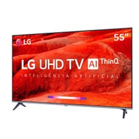 Smart TV Ultra HD LED 55 LG, 4K, 4 HDMI, 2 USB - 55UM7520PSB