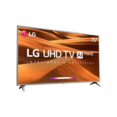 Smart TV Ultra HD LED 75 LG, 4K, 4 HDMI, 2 USB - 75UM7510PSB