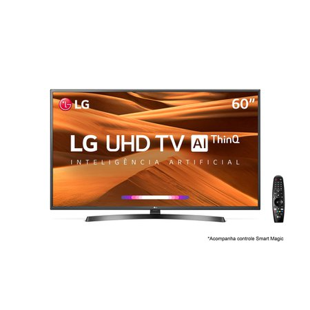 Smart TV Ultra HD LED 60 LG, 4K, 3 HDMI, 2 USB, Smart Magic - 60UM7270PSA