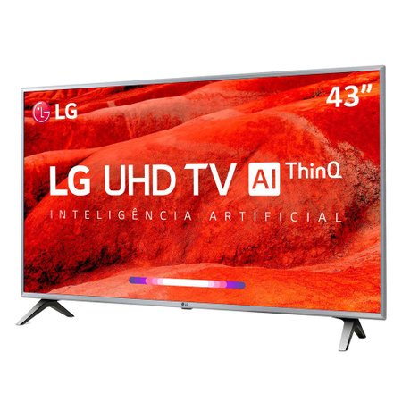 Smart TV Ultra HD LED 43 LG, 4K, 4 HDMI, 2 USB - 43UM7510PSB