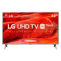 Smart TV Ultra HD LED 43'' LG, 4K, 4 HDMI, 2 USB - 43UM7510PSB