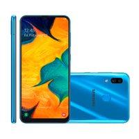 Smartphone Samsung Galaxy A30, 64 GB, 16MP + 5MP, 4G, Dual Chip, Azul - A305G