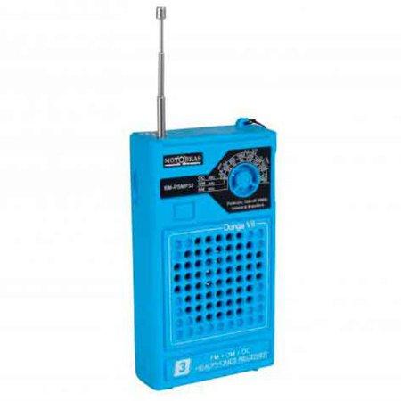 Radio Portatil Motobras AM/FM/OC, 300 mW RMS, Azul - RM-PSMP32