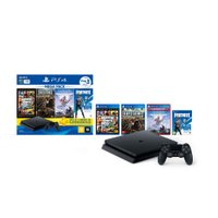 Playstation 4 Mega Pack Bundle 6, 1 TB, Controle Dualshock 4, Preto