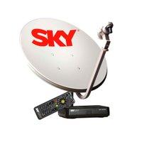 Kit Antena 60 cm + Receptor Sky Pre-Pago Conforto HD