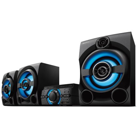 Mini System Sony, 2150W RMS, Karaoke, Bluetooth, com Controle Remoto - MHC-M80D