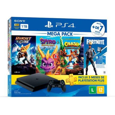 Playstation 4 Sony V8, 1 TB, Controle Dualshock 4, Preto