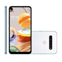 Smartphone LG K61, Câmera Quadrupla, 128GB, 4G, Branco - Q630