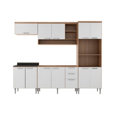 Cozinha Modulada Completa Multimóveis Sicília, 9 Portas, 3 Gavetas - 3102.852