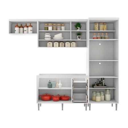 Cozinha Modulada Completa Multimóveis Suiça, 10 Portas, 3 Gavetas - 3117.745