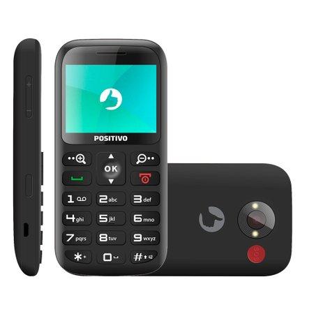Celular Positivo, 32MB, Dual Chip, Bluetooth, Camera VGA - P65