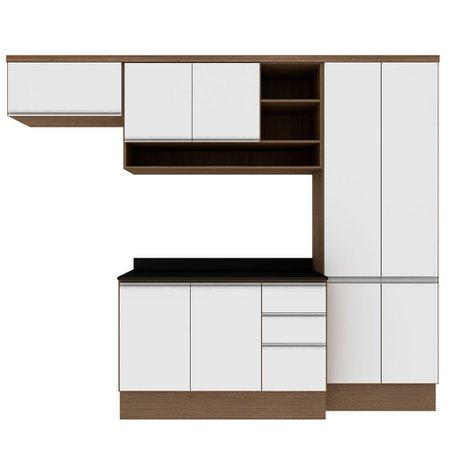 Cozinha Modulada Completa Multimóveis Suiça, 10 Portas, 2 Gavetas