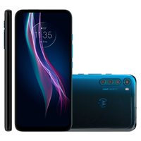 Smartphone Motorola One Fusion+, Quad Câmera, 128GB, 6,5'', Azul - XT2067