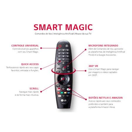 Smart TV 8K 65'' LG, NanoCell, 4 HDMI, 3 USB, Wi-Fi - 65NANO96SNA