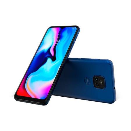 Smartphone Motorola Moto E7 Plus, 48MP + 2MP, 64GB, 4G, Azul - XT2081