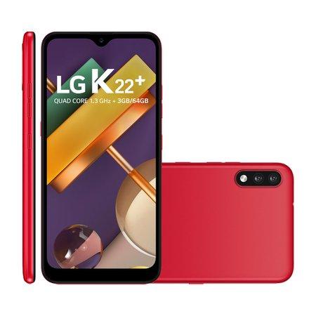 Smartphone LG K22 Plus, 4G, 64GB, 13MP + 2MP, 6,2'', Vermelho - LMK200BAW