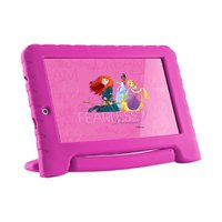 Tablet Multilaser Disney Princesas Plus, 7'', 16GB, Wi-Fi, Rosa - NB308