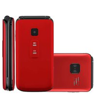 Celular Multilaser Flip Vita, Dual Chip, 2G, 900 mAh, Vermelho - P9021