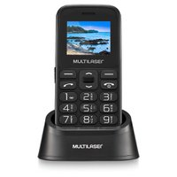 Celular Multilaser Vita com Base, Dual Chip, Bluetooth, Preto - P9121