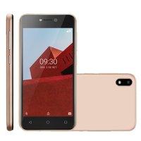 Smartphone Multilaser E, 32GB, Bluetooth, Dourado - P9129