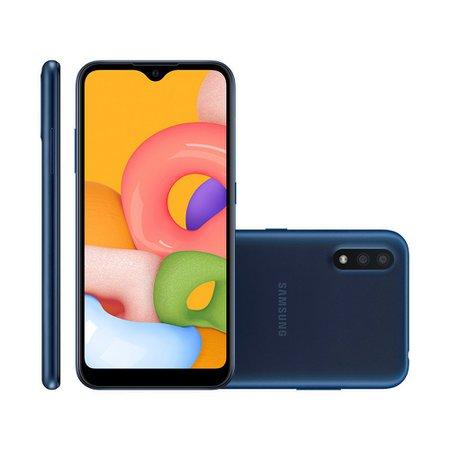 Smartphone Samsung Galaxy A01, 32GB, 13MP + 2MP, Dual Chip, Azul - A015M