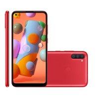 Smartphone Samsung Galaxy A11, 64GB, 3GB, Dual Chip, Vermelho - A115M