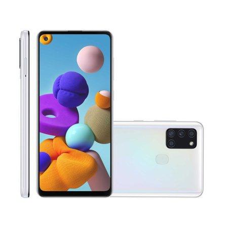 Smartphone Samsung Galaxy A21S, 4GB, 64GB, Dual Chip, Branco - A217M