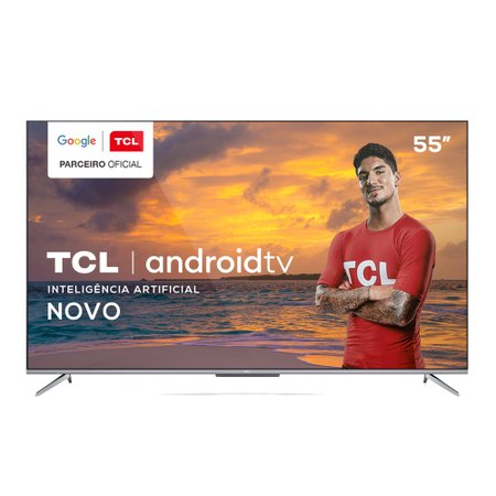 Android TV LED 55'' TCL, 4K, 3 HDMI, 2 USB, Wi-Fi - 55P715
