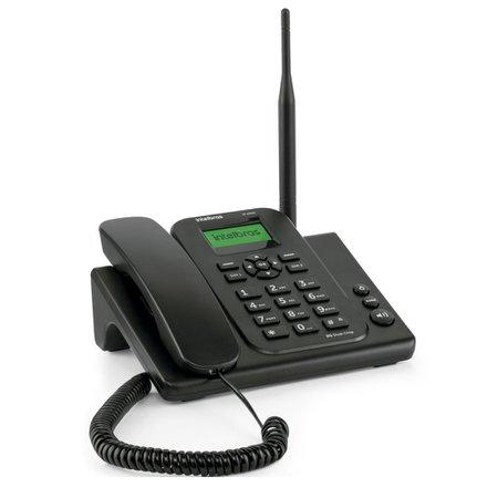 Telefone com Fio Intelbras, Dual Chip, Preto - CF4202N