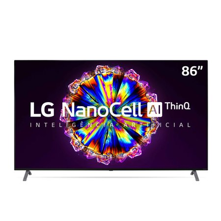 Smart TV UHD LED 86'' LG NanoCell 4K 4 HDMI, 3 USB, Wi-Fi, ThinQAI - 86NANO90SNA