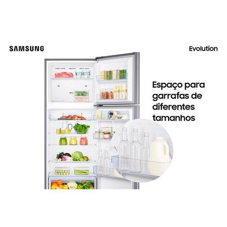 Geladeira Samsung Evolution com PowerVolt Inverter Duplex 385L Inox Look - RT38