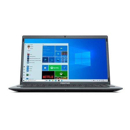 Notebook Positivo Motion Cinza, Intel Quad-Core, Tela 14'', 128GB - Q4128C