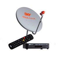 Kit Antena 60 cm + Receptor Sky Pré Pago Conforto HD - SH01