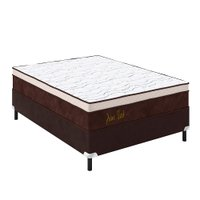 Conjunto Cama Box Casal de Molas K Prime Tech, Tecido de Malha - 138x30