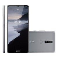Smartphone Nokia 2.4, 4G, 64GB, 13MP + 2MP, Tela 6,5, Cinza - NK015