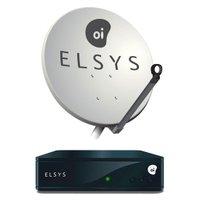 Kit OI TV Livre Quadruplo Elsys: 1 Receptor ETRS35 + 1 Antena Quadrupla Elsys 60 cm ETKI28